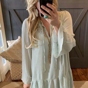 NWT Bohemian Lace Ethereal Tunic Dress Sz M